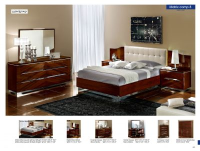 Clearance Bedroom 30% OFF Matrix Composition 8 w/White Headboard, Camelgroup Italy