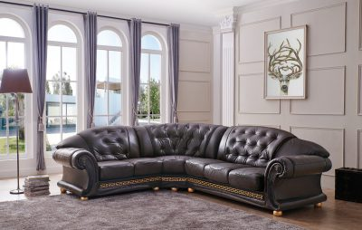 Living Room Furniture Sectionals Apolo Sectional Brown
