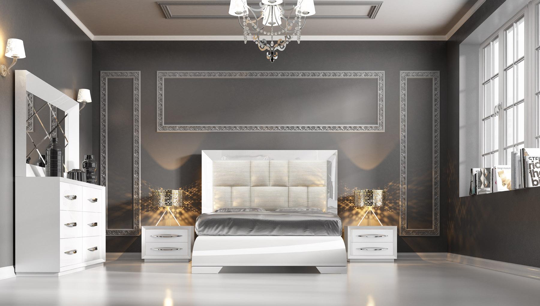 Carmen Bedroom White With Double Dresser Combo
