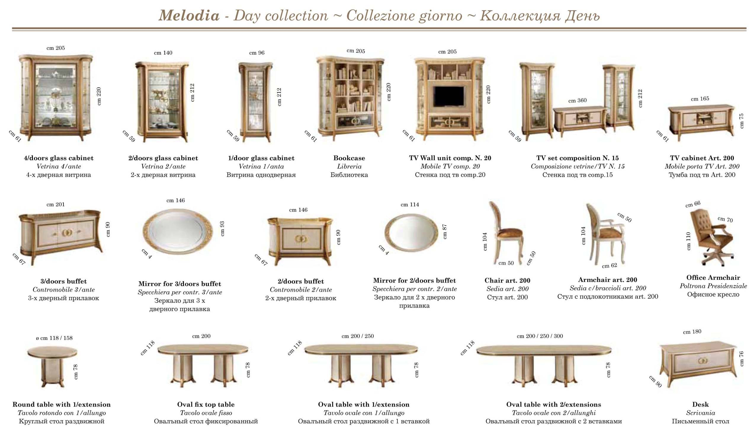 Melodia Day Collections Arredoclassic Dining Room