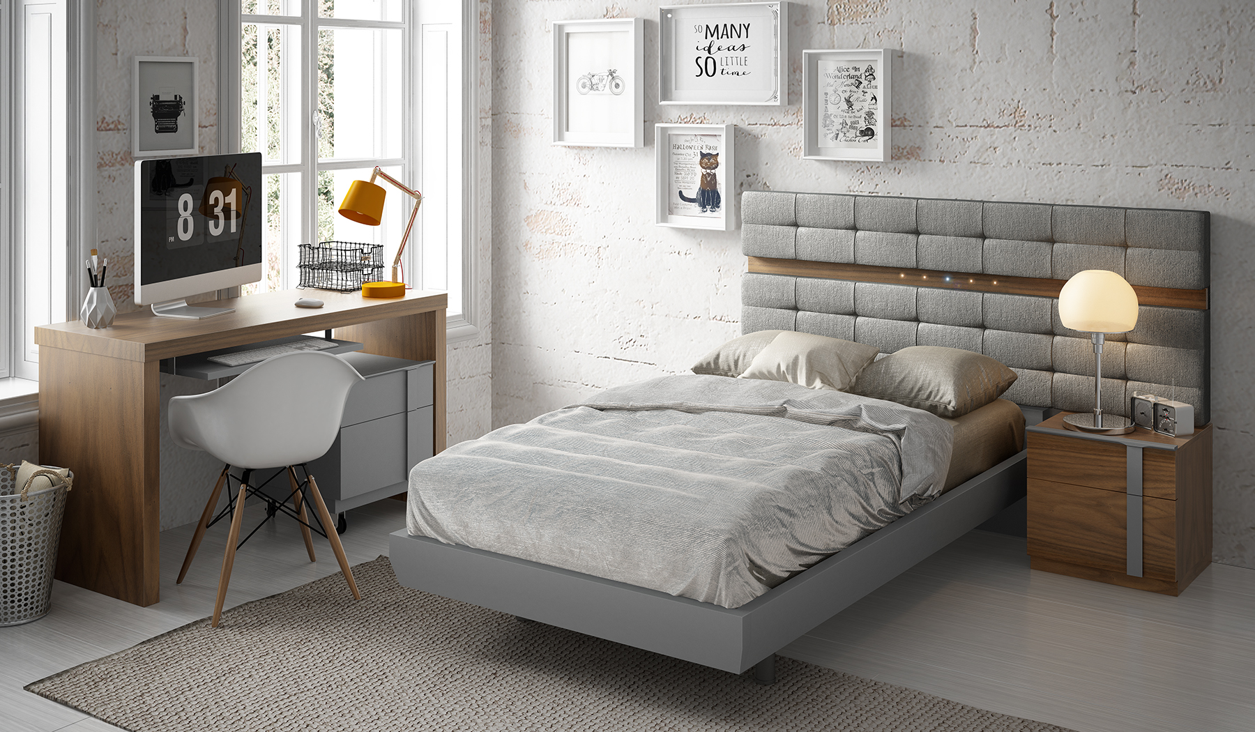 Brands Fenicia Modern Bedroom Sets, Spain Fenicia Composition 71 / single 2