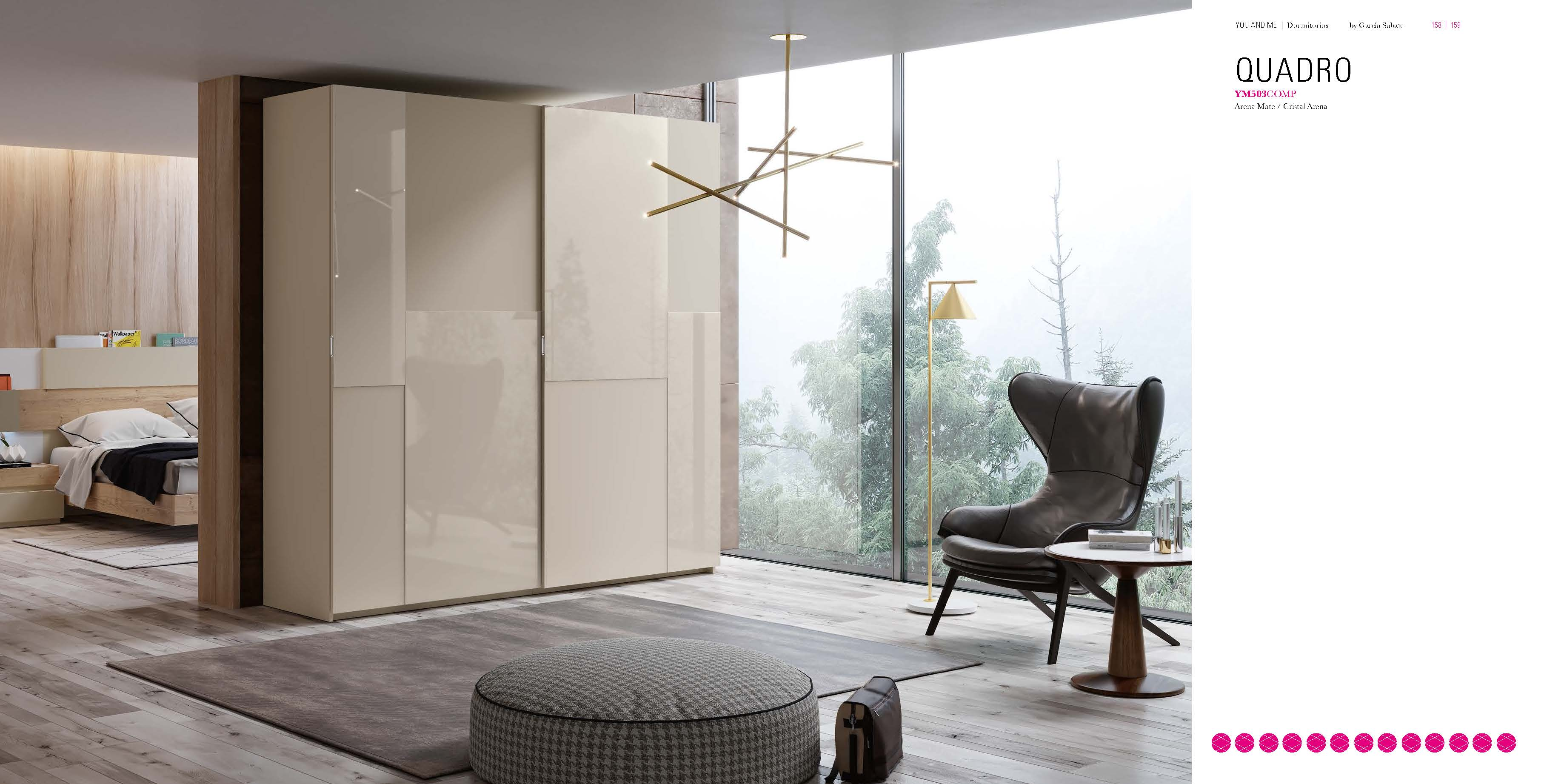 Brands Garcia Sabate, Modern Bedroom Spain YM503 Sliding Doors Wardrobes
