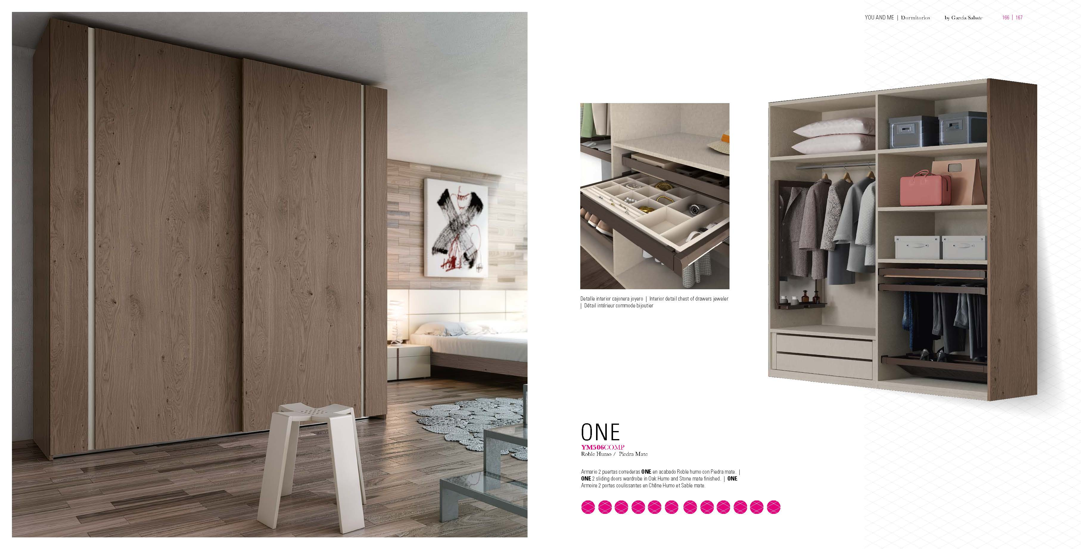 Brands Garcia Sabate, Modern Bedroom Spain YM506 Sliding Doors Wardrobes