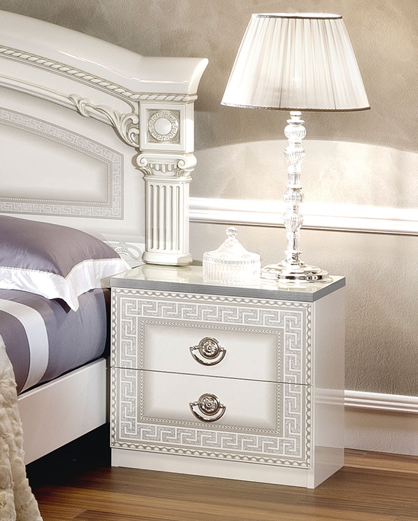 Aida White W Silver Camelgroup Italy Classic Bedrooms