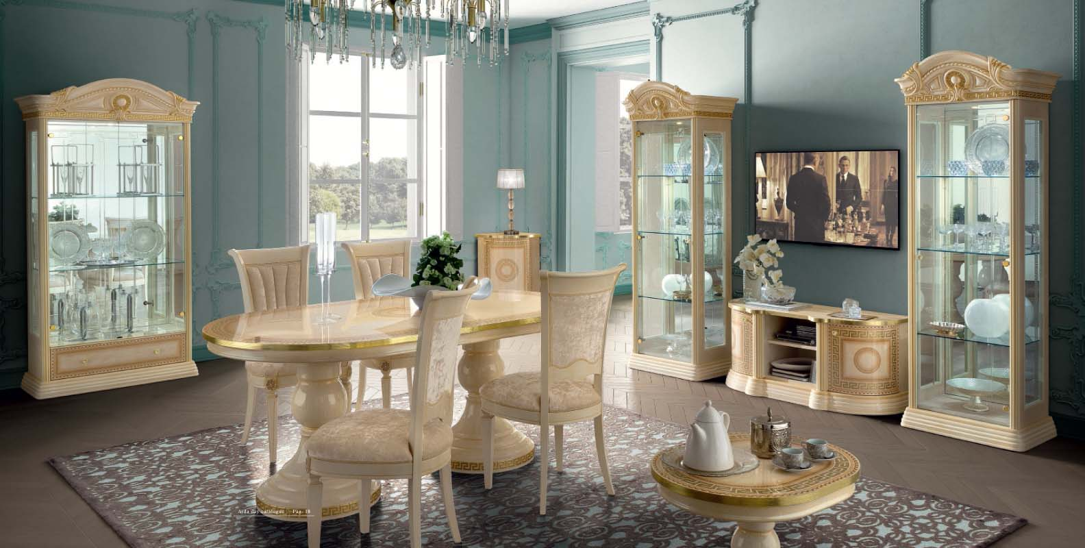 Aida Dining. Dining Room Furniture Classic Formal ...