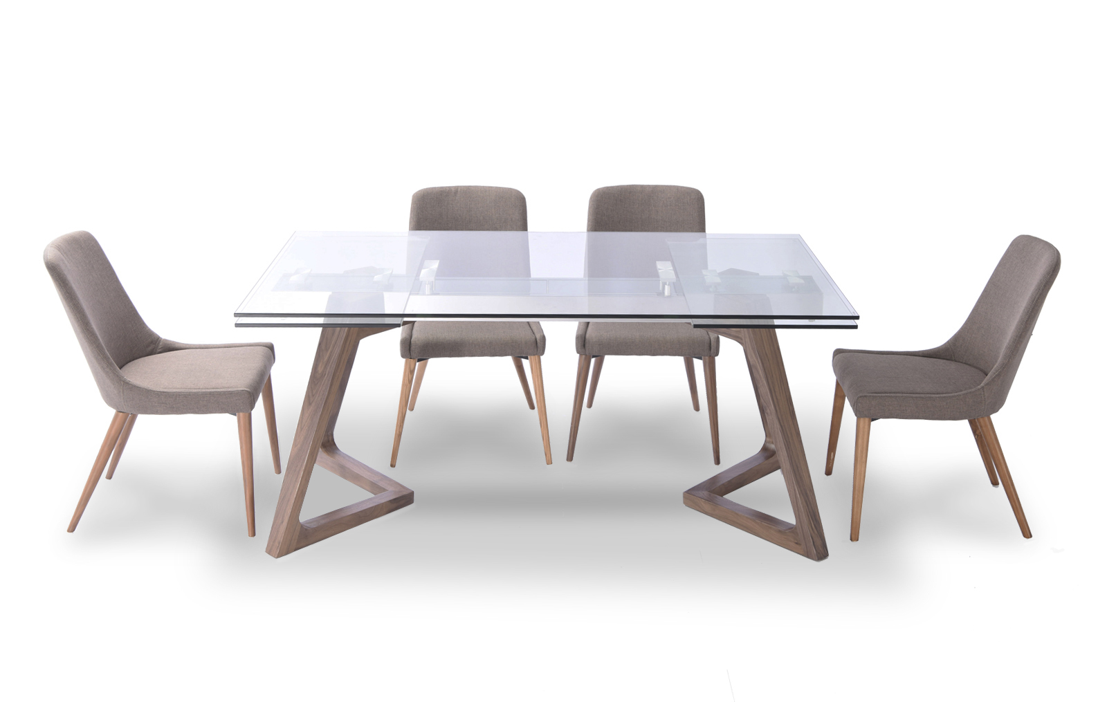 8811 table and 941 chairs modern casual dining sets for Modern table and chairs