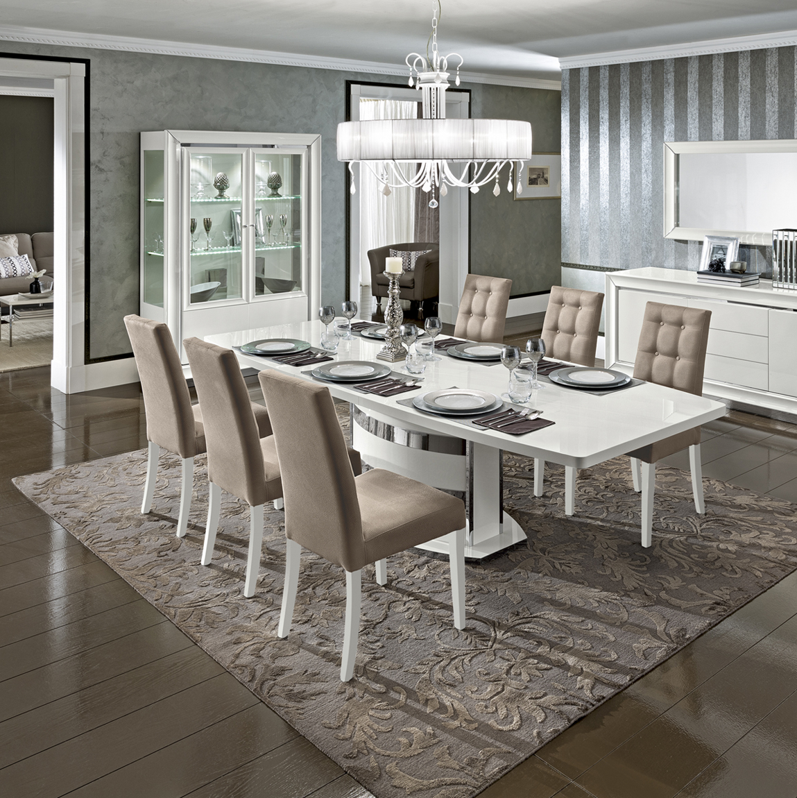 Dama Bianca Dining Modern Formal Dining Sets Dining Room
