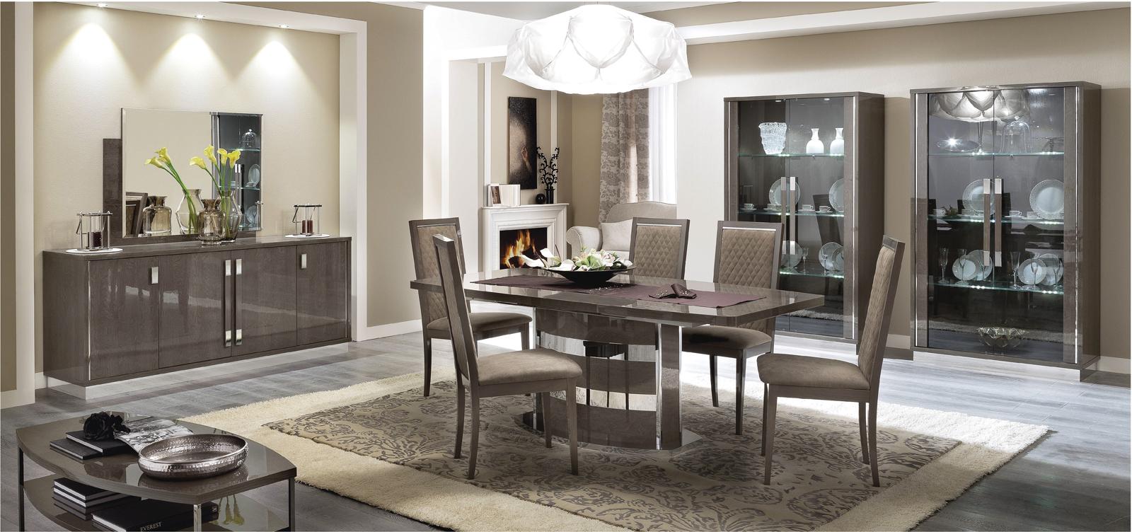 Platinum Slim Dining, Modern Formal Dining Sets, Dining Room Furniture