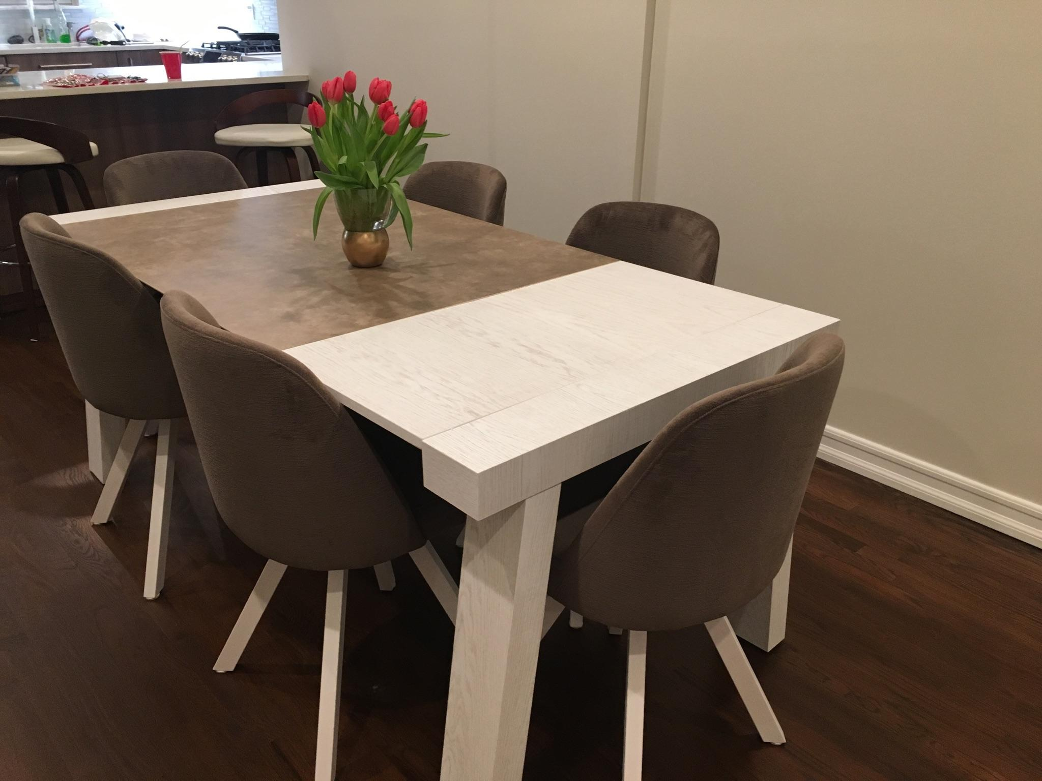 Reyna dining room with albi chairs modern formal dining for Modern formal dining set