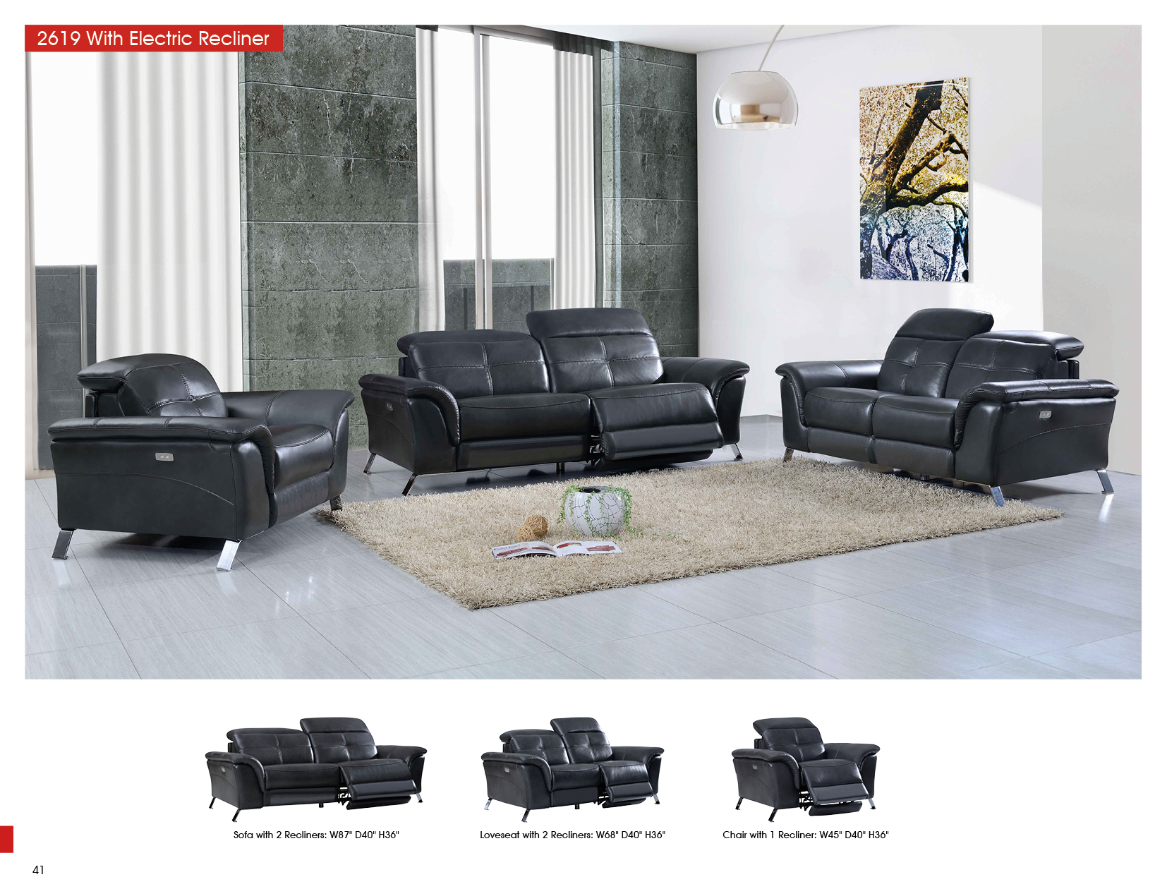 2619 With Electric Recliners Sofas Loveseats And Chairs Living Room Furniture